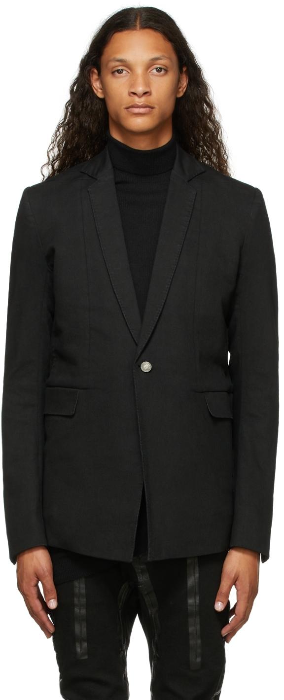 Black Resin-Dyed Suit2 Blazer