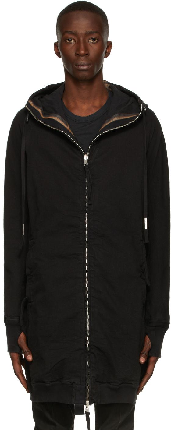 Black Hybrid Zipper 3.1 Coat