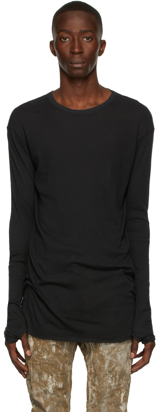 Black Rib LS1 Long Sleeve T-Shirt
