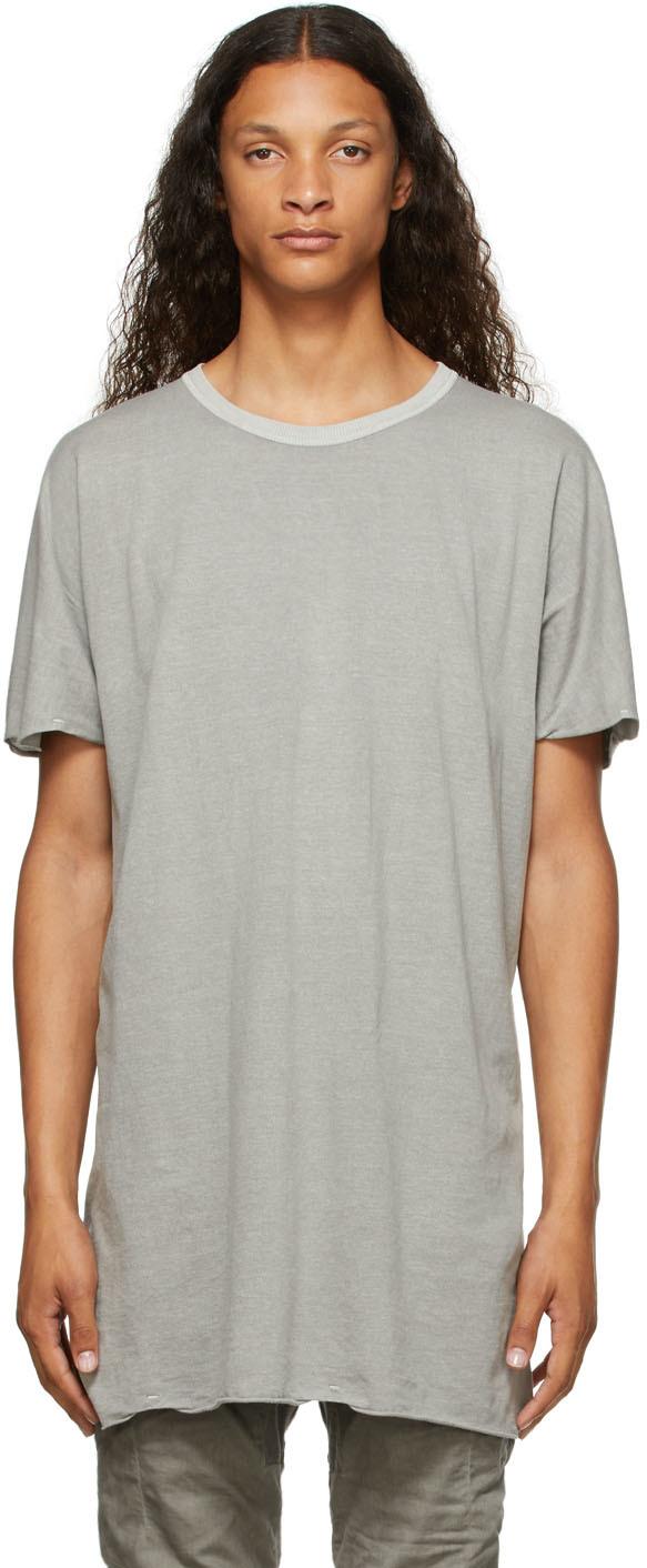 Grey Garment-Dyed One-Piece T-Shirt