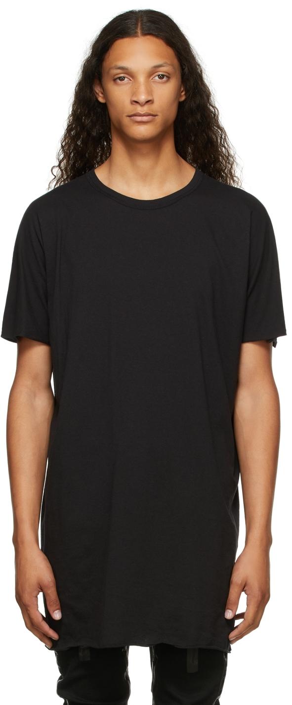 Black Garment-Dyed One-Piece T-Shirt