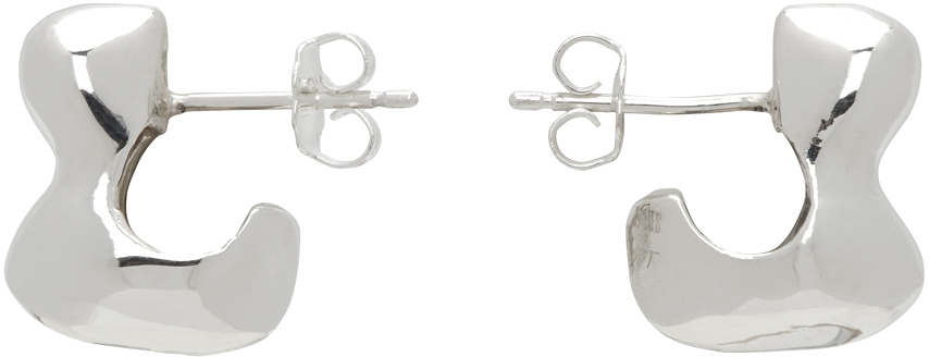 Silver Simone Bodmer Turner Edition Small Bubble Hoop Earrings