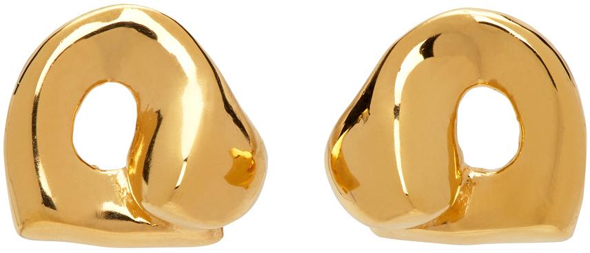 Gold Simone Bodmer Turner Edition Gertrude Stud Earrings