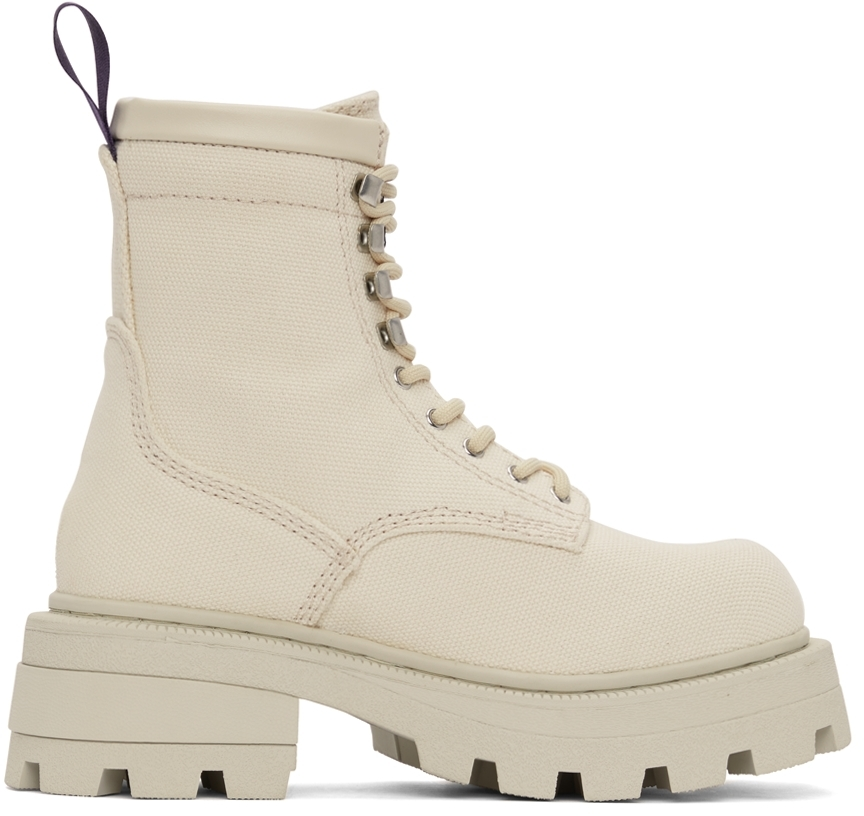 Off-White Canvas Michigan Boots