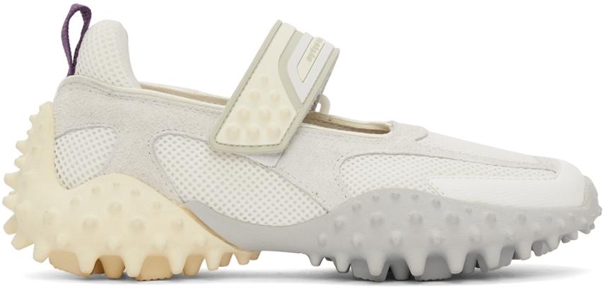 White & Grey Kamasu Slip-On Sneakers