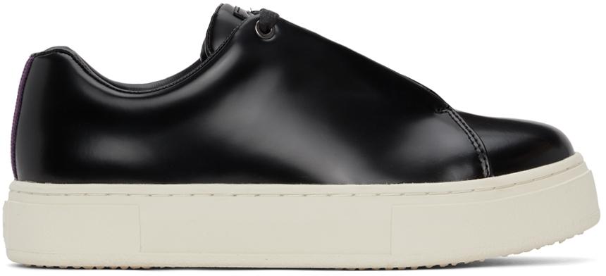 Black Leather Doja Sneakers