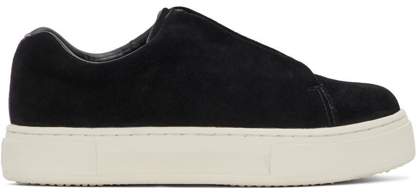 Black Suede Doja Slip-On Sneakers