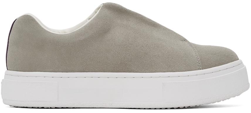 Grey Suede Doja Slip-On Sneakers
