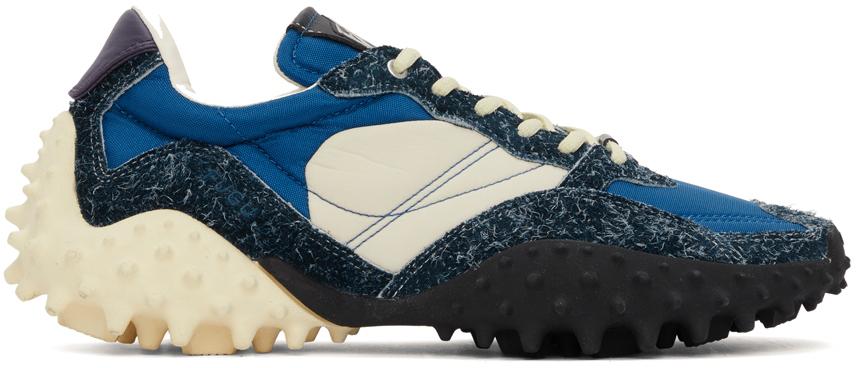 Blue & Black Fugu Sneakers