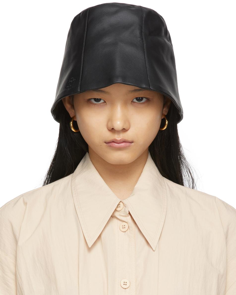 SSENSE Exclusive Black Logo Bucket Hat