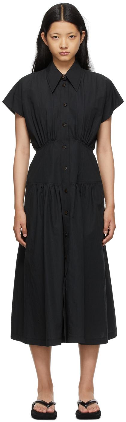 SSENSE Exclusive Black Waist Shirring Dress