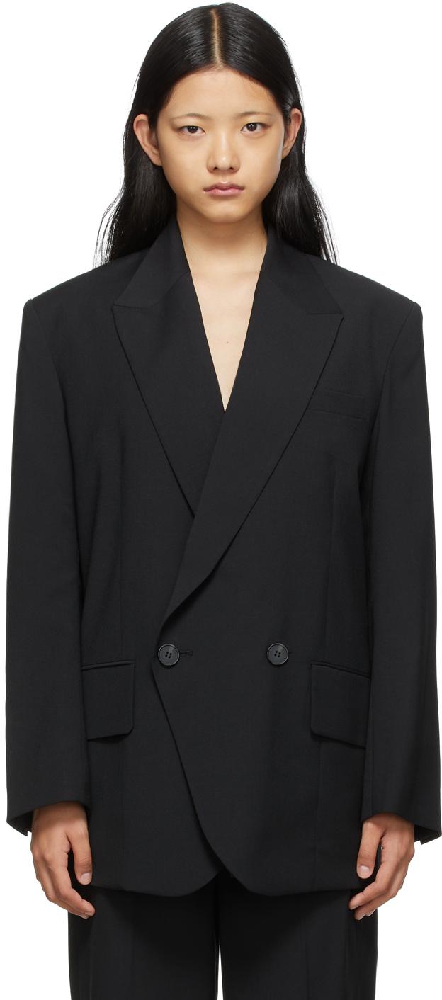 SSENSE Exclusive Black Wool Loose Fit Blazer