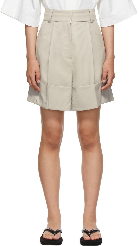 SSENSE Exclusive Beige Half Turn Up Shorts