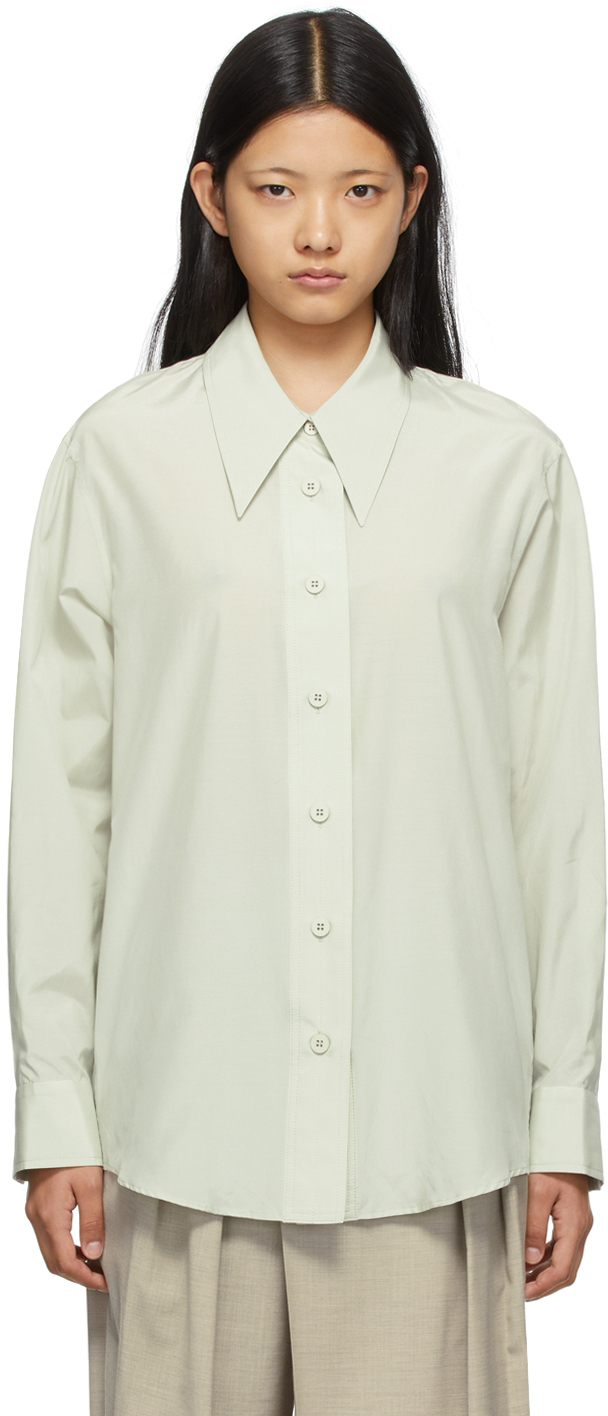 SSENSE Exclusive Taupe Volume Sleeve Shirt