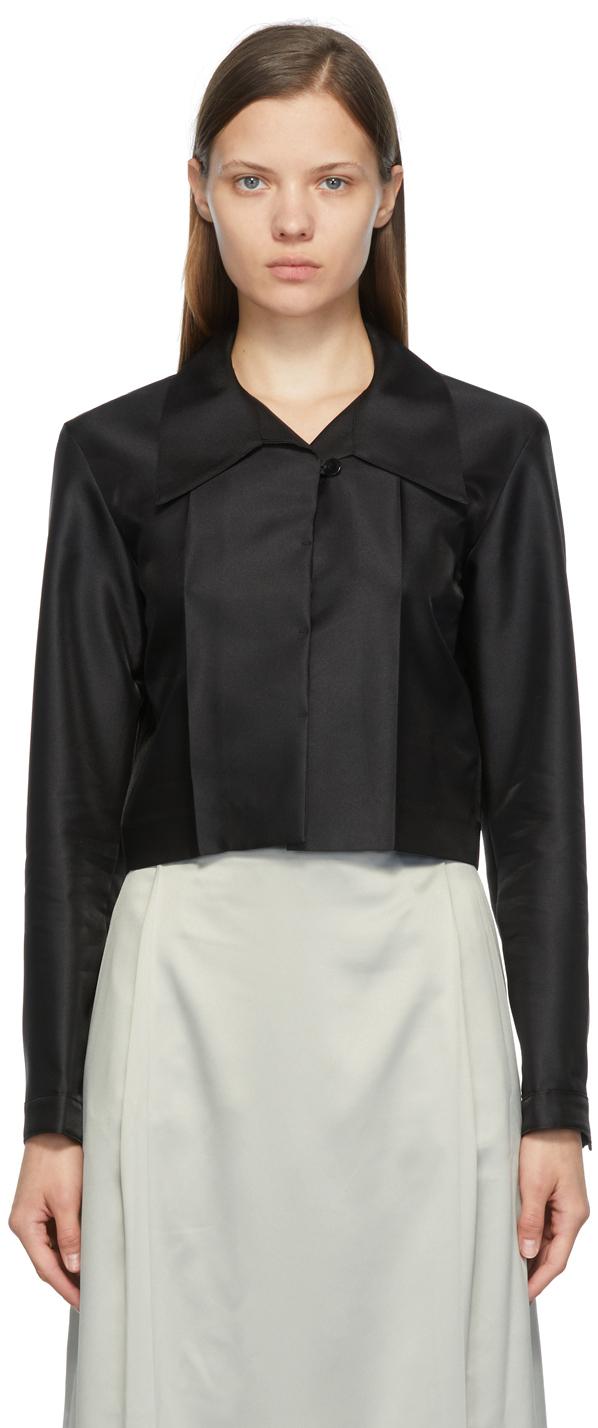 Black Cropped Shirt