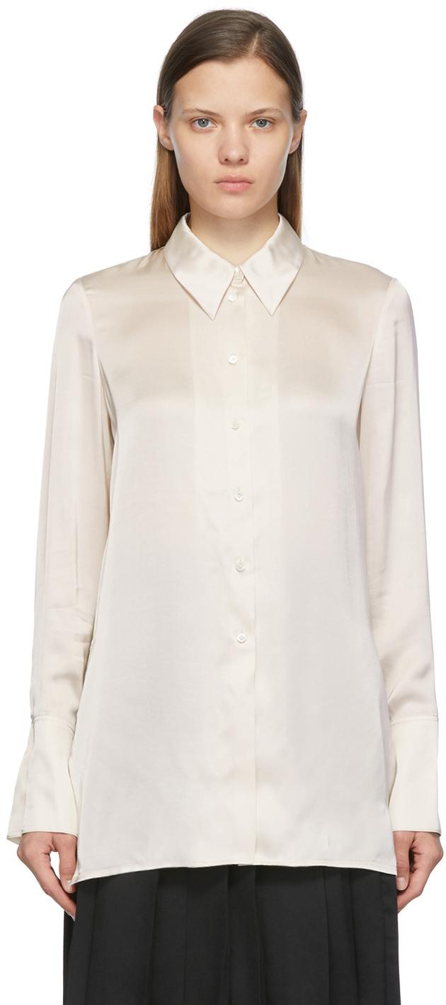 Off-White Slim Satin Shirt