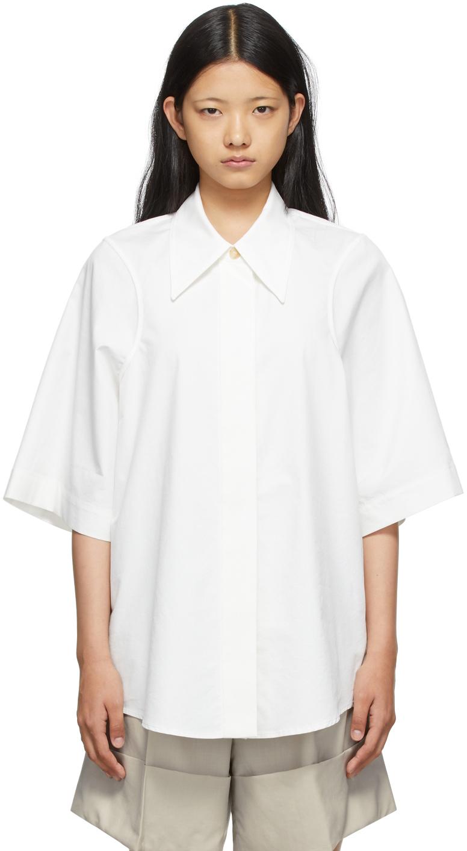 SSENSE Exclusive White Armhole Stitch Short Sleeve Shirt