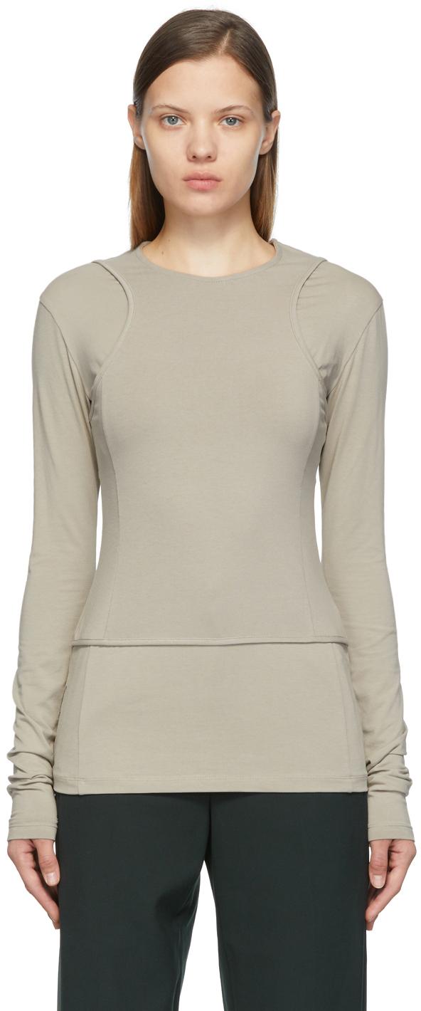 Khaki Layered Long Sleeve T-Shirt