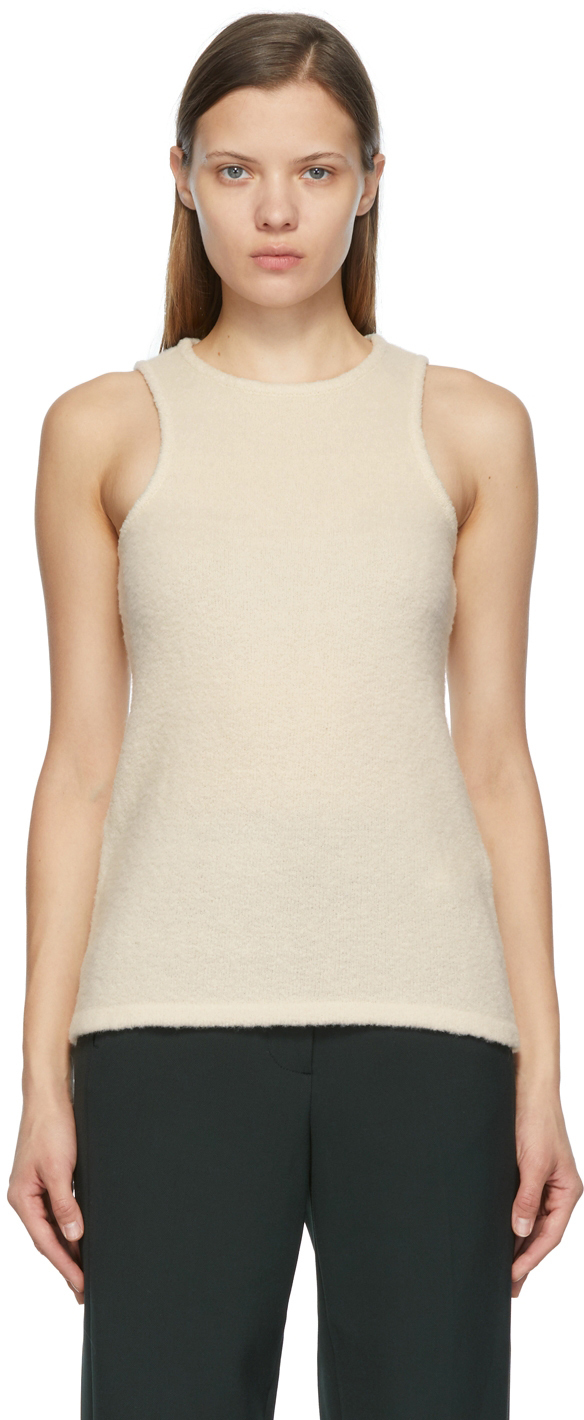Off-White Boucle Tank Top