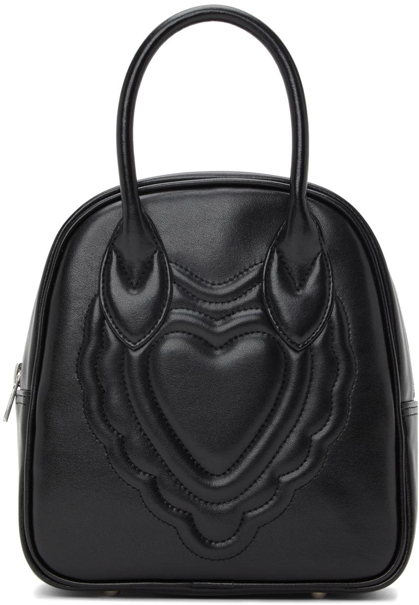 Comme des Garçons Girl Faux-Leather Heart-Embossed Bag