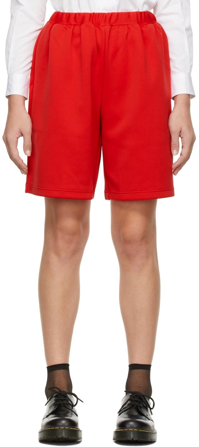 Comme des Garçons Girl Red Drawstring Shorts