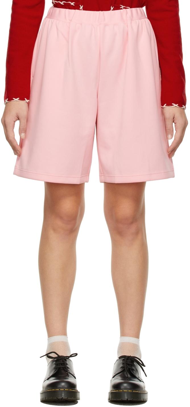 Comme des Garçons Girl Pink Drawstring Shorts