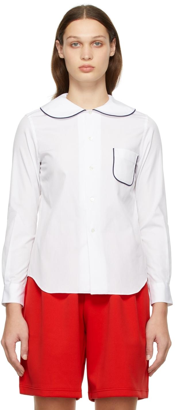 Comme des Garçons Girl White Round Collar Shirt