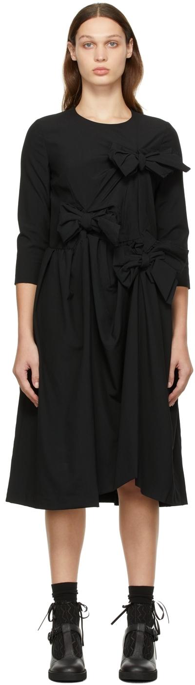 Comme des Garçons Comme des Garçons Black Tropical Wool Bow Dress