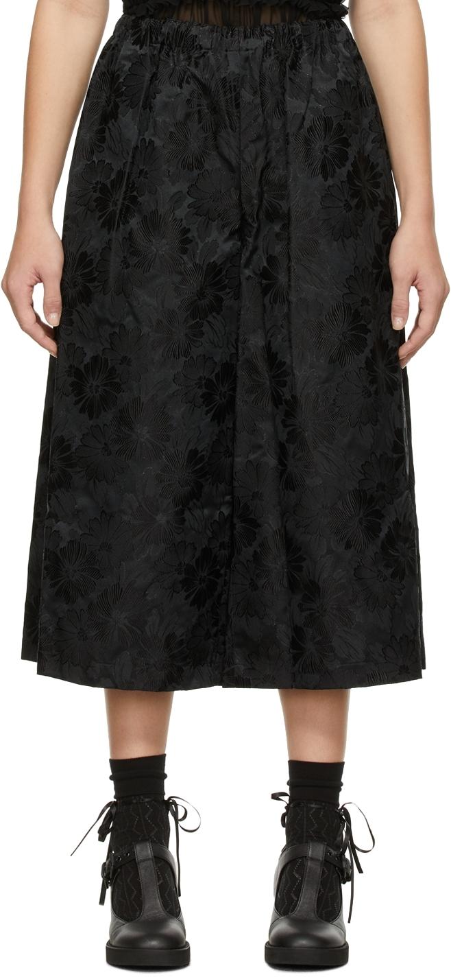Comme des Garçons Comme des Garçons Black Jacquard Drawstring Trousers