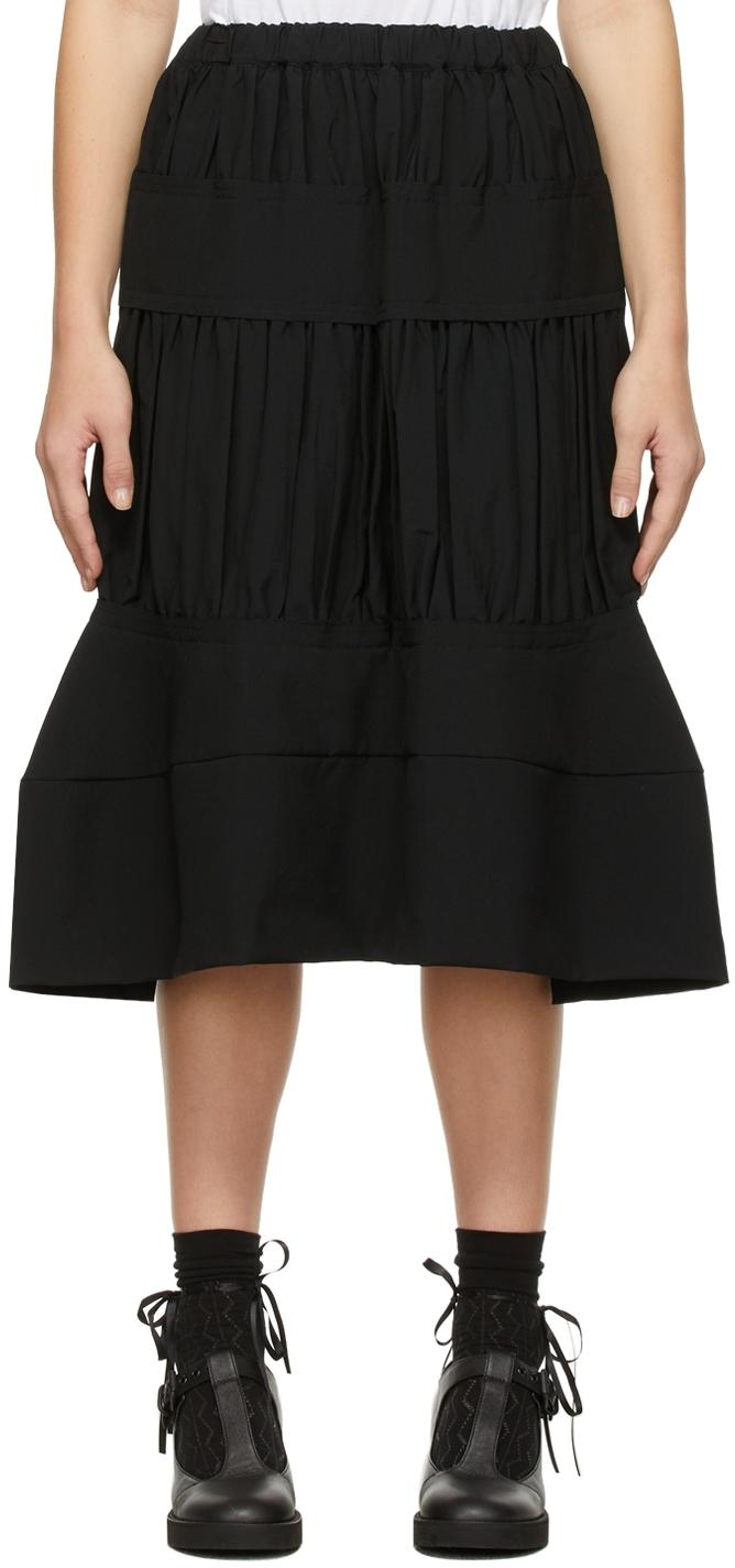 Comme des Garçons Comme des Garçons Black Tropical Tiered Skirt