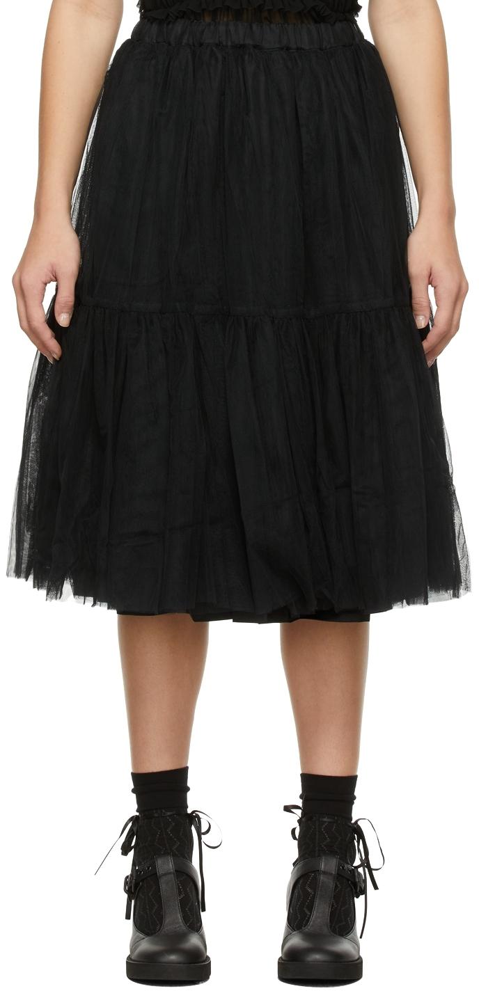 Comme des Garçons Comme des Garçons Tulle Tiered Skirt