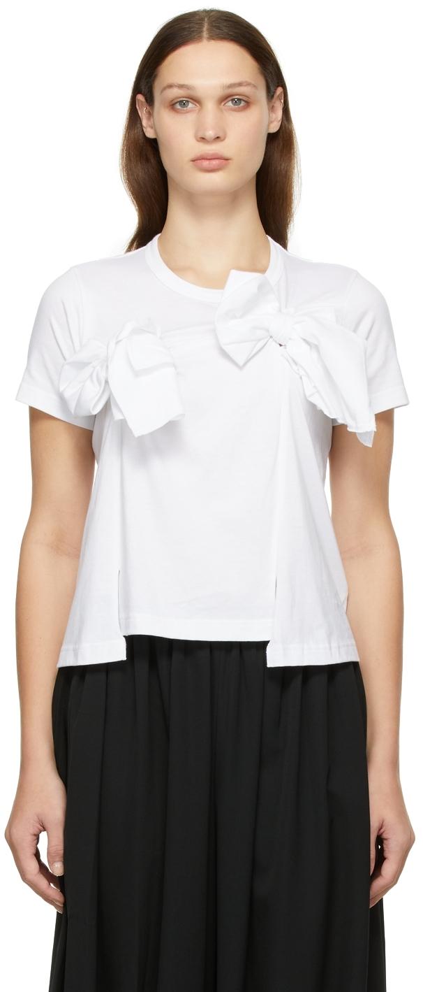 Comme des Garçons Comme des Garçons White Bow T-Shirt