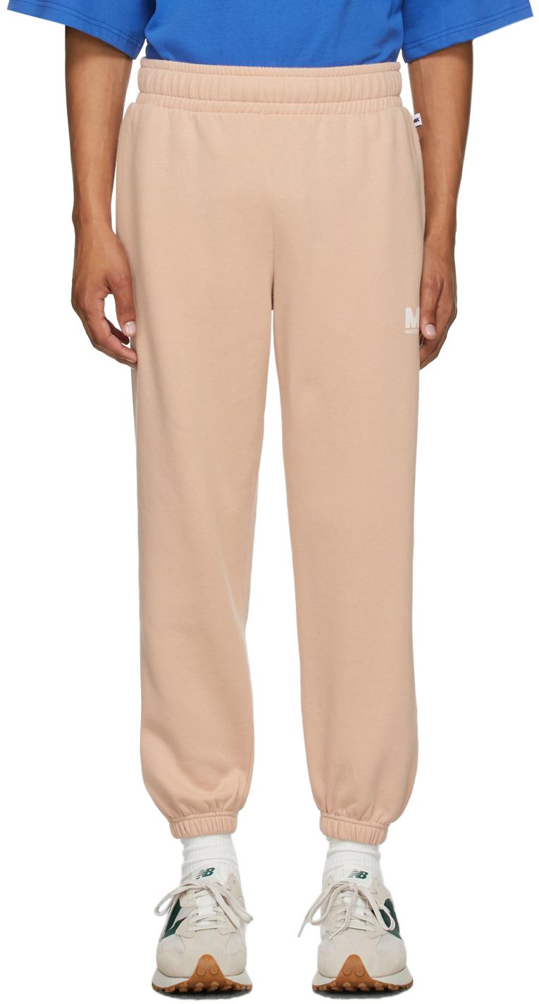 Beige 'MA' Lounge Pants