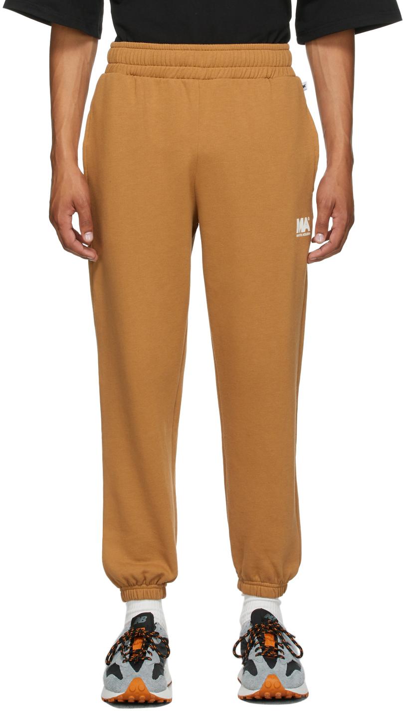 Tan 'MA' Lounge Pants