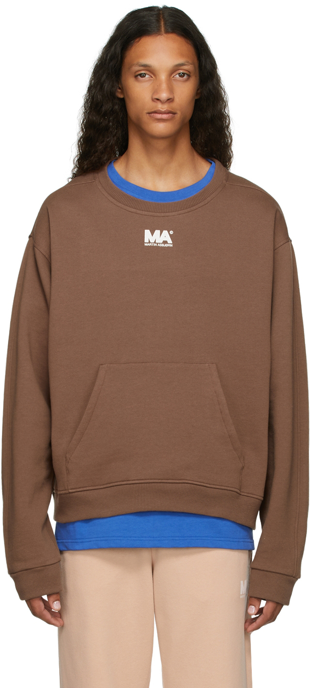 Brown Crewneck 'MA' Sweatshirt