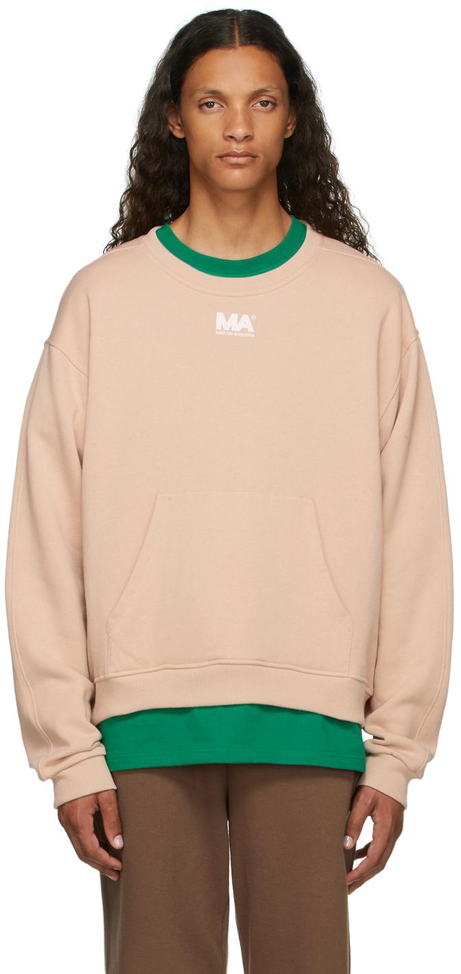 Beige Crewneck 'MA' Sweatshirt