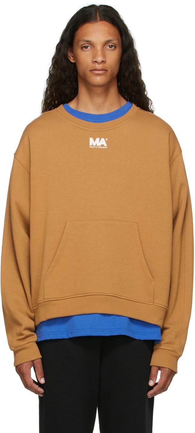 Tan Crewneck 'MA' Sweatshirt