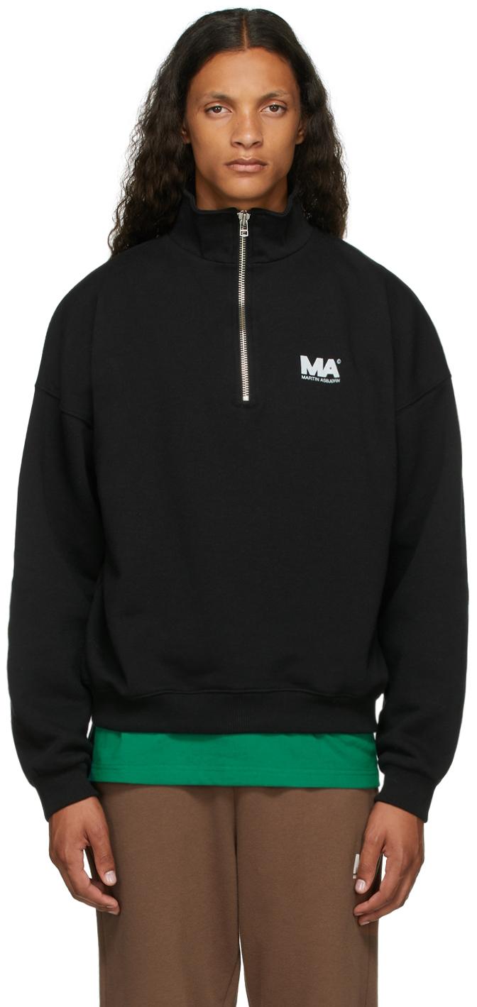 Black Turtleneck 'MA' Sweatshirt