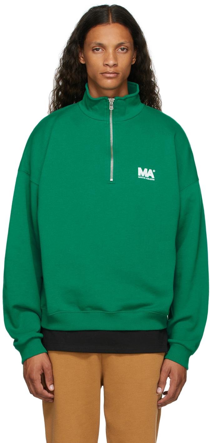Green Turtleneck 'MA' Sweatshirt