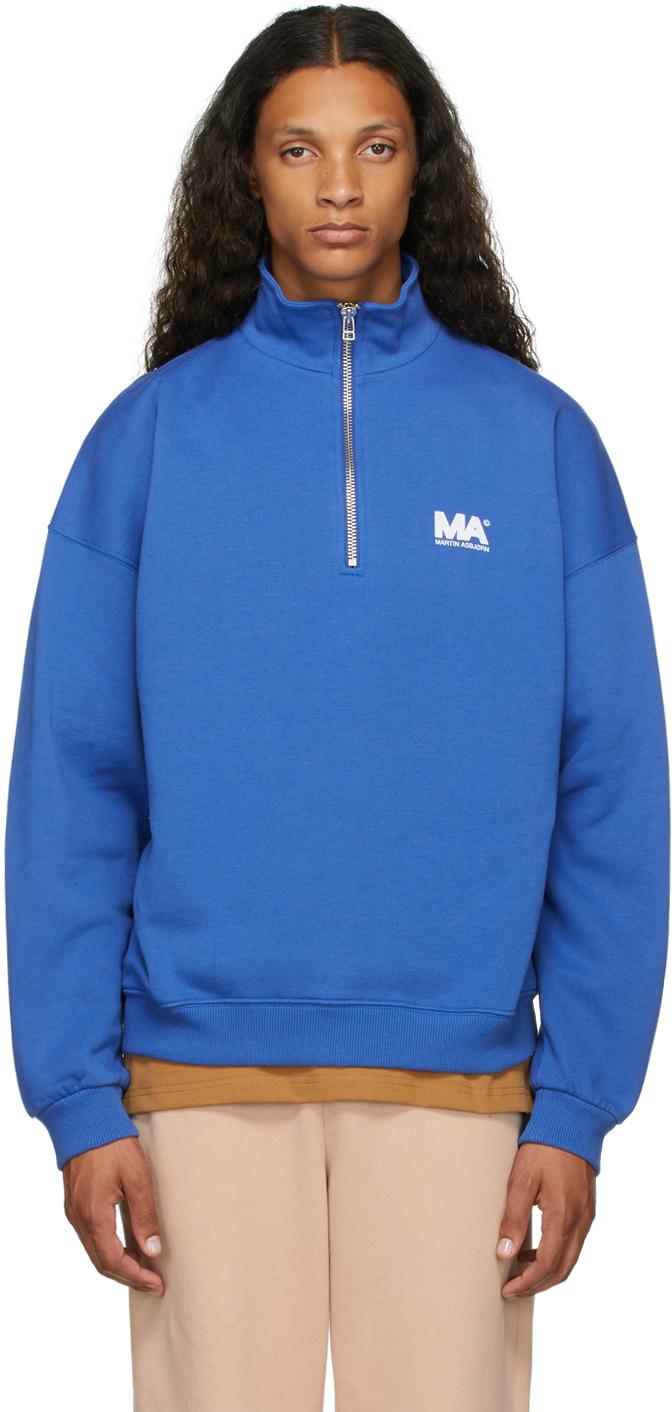 Blue Turtleneck 'MA' Sweatshirt