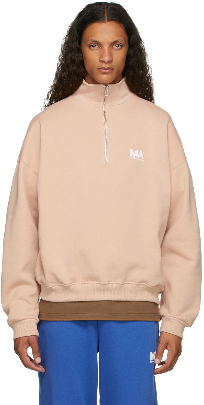 Beige Turtleneck 'MA' Sweatshirt