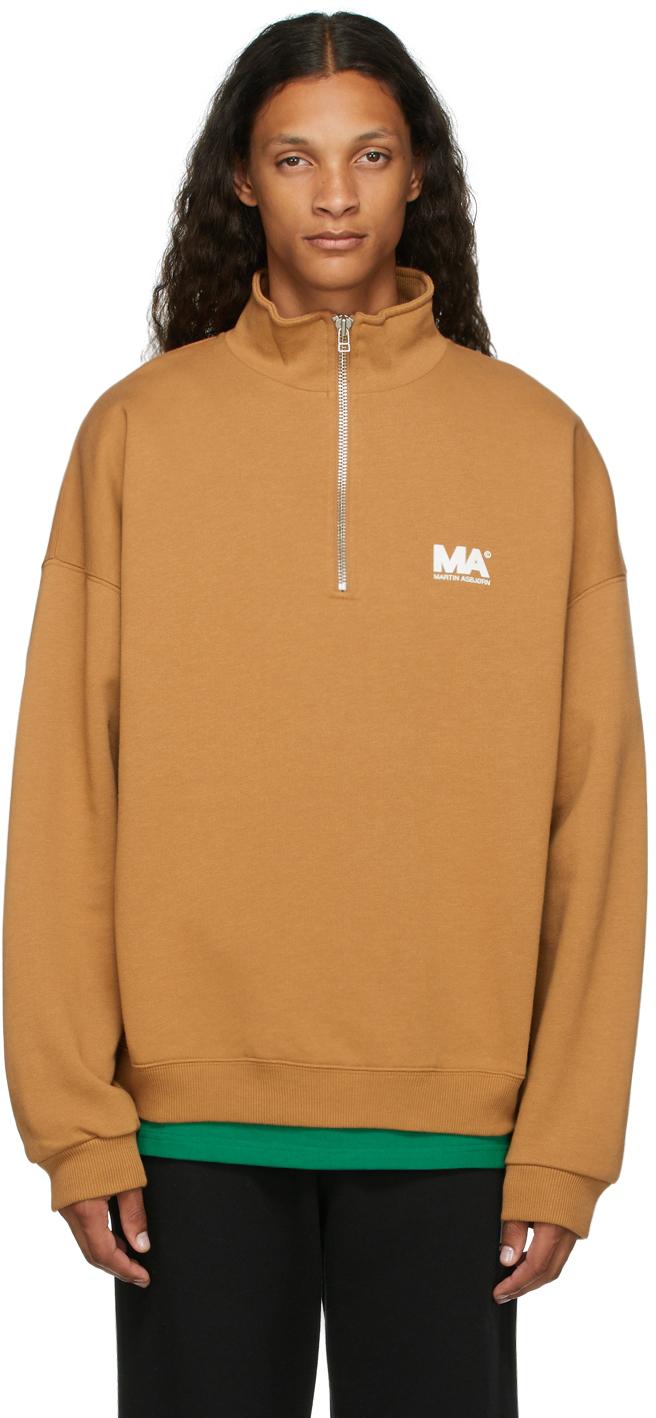 Tan Turtleneck 'MA' Sweatshirt