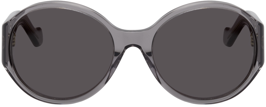 Grey Round Anagram Sunglasses