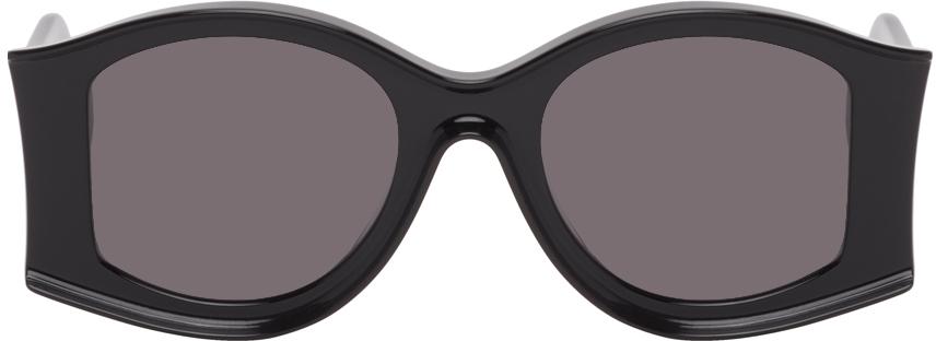 Black Paula's Ibiza Large Round Sunglasses