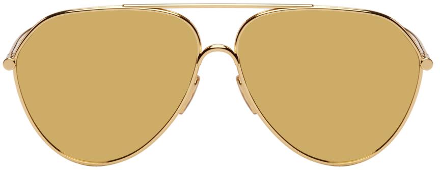 Gold Pilot Sunglasses