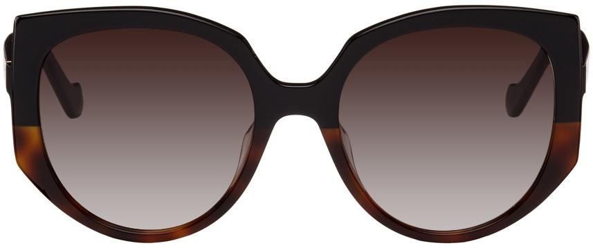 Black Oversized Cateye Sunglasses
