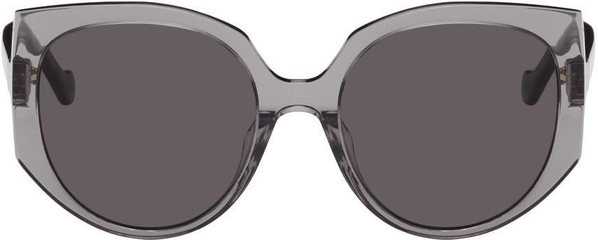 Grey Oversized Cateye Sunglasses