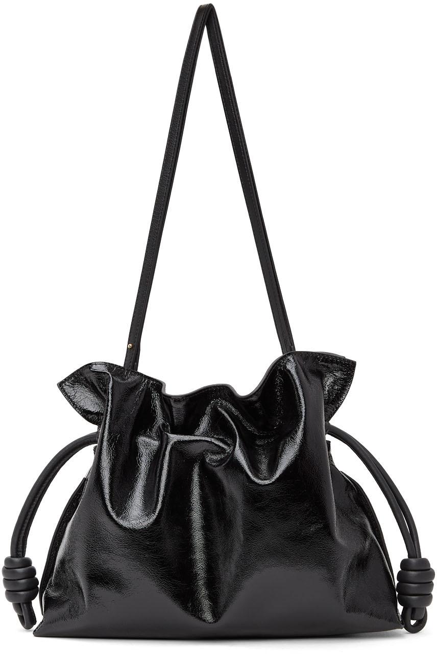Black Patent Flamenco Clutch Bag