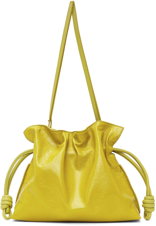 Yellow Patent Flamenco Clutch Bag
