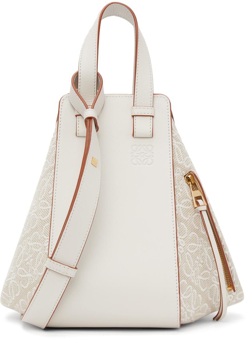 Loewe Off-White Small Anagram Hammock Bag